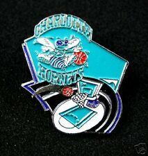Hornets Retired Pin with the Logo Over the Net