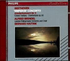 ALFRED BRENDEL.BEETHOVEN PIANO CONCERTO No.5.HAITINK.PHILIPS FULL SILVER CD ALBU