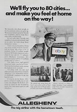 ALLEGHENY AIRLINES FLY YOU TO 80 CITIES AND MAKE YOU FEEL AT HOME 1977 AD