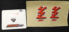 89 YAMAHA YZ250 DECALS STICKERS GRAPHICS PAIR DECAL STICKER DIRTBIKE YZ 250 1989