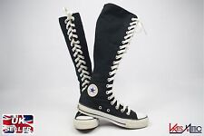 CONVERSE Chuck ALL STAR Black Knee High XX Hi Trainers UK Men's Size 3 Unisex