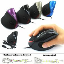 Ergonomic Design USB Vertical Optical Mouse 2000 DPI for Computer PC