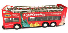 "6"" RED New York city double decker sightseeing tour bus diecast car model New"