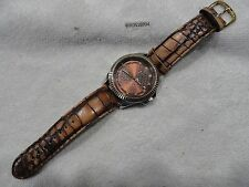 MENS RARE CLASSIC JUICY COUTURE WATCH CRYSTAL BROWN COPPER DIAL FLUTED BEZEL