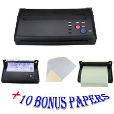 Tattoo Transfer Copier Printer Machine Thermal Stencil + Bonus Papers Black New