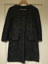 FRENCH CONNECTION Black Wool Tweed Shift Dress with Pocket Detail Size 14