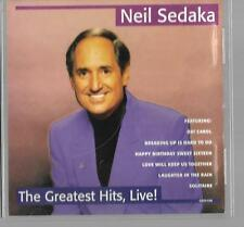 CD LIVE NEIL SEDAKA the greatest hits live excellent condition cd