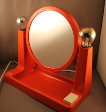 70er Space Age Objekt Kosmetik Spiegel Lampe 70s Mirror & Lamp Make Up Station