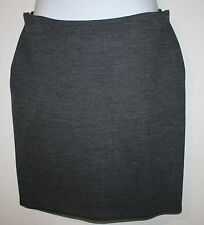 LANVIN River Collection '11 Gray Wool Stretch Skirt Wrap Side France 48 12 14 16