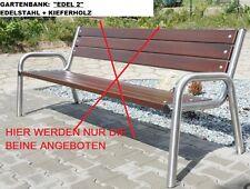 Edelstahl Gartenbank - Beine, Gartenbankgestell,  gebürstet, geschliffen, Design