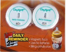 Compac Day Spot Magnetic Refrigerator Food Date Label / Activity Reminder 2 pk
