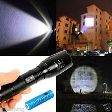 3000LM Zoomable CREE XML T6 LED Flashlight Focus Torch + 18650 Battery& Charger