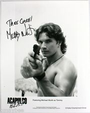"""Michael Worth as Tommy Chase in ACAPULCO H.E.A.T.  Autographed 8""""X10"""" Photo RARE"""