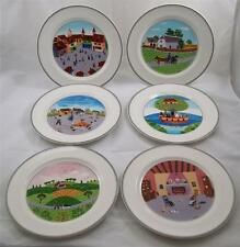 Villeroy & and Boch DESIGN NAIF LAPLAU set of 6 NEW dinner plates 27cm