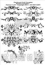 Parchment Craft Template N.107 Card Tracing Making Corners, Borders Butterflies