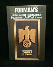 Forman's Guide to Third Reich German Documents & Their Values - 1st Ed SIGNED LE
