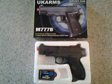 UK ARMS M777B Airsoft Gun and Pkg. 6mm BB Bullets - NEW in BOX