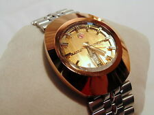 Rare Vintage Men's Rado Diastar Automatic Wrist Watch ~ Copper Bezel