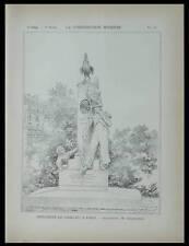 PARIS, MONUMENT NICOLAS CHARLET - 1897 - PLANCHE - ALEXANDRE CHARPENTIER