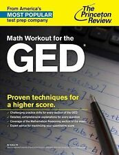 College Test Preparation: Math Workout for the GED Test by Princeton Review...