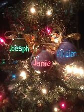 Ceramic Ornament Personalize Name/Color Light Up Using Christmas Tree Strand