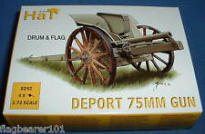 HAT 8242 WW1 DEPORT 75MM GUN. 1/72 SCALE