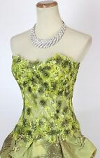 New Authentic Jovani 7772 Olive High-Low Strapless Wedding Women Evening Gown 4
