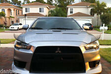 Black Car Lashes (R) Headlight Eyelashes Accessories 3M Sticker for Mitsubishi