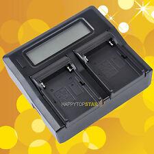 Fast Quick Dual Battery Charger for FM NP-F970/B F750 F550 VBD1 VBD2 V607U V617U
