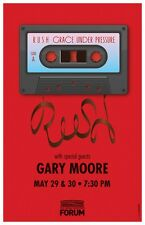 Rush & Gary Moore Los Angeles Forum Gig Concert Poster
