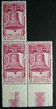 1958 ITALIA 60 lire 40° Anniversario della Vittoria  terzina  MNH**