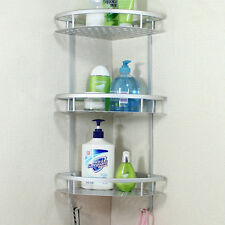 Bathroom Accessories Space Aluminum Shower Caddy Wire Basket Storage Shelves JG