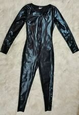 Full Covered Satin Spandex Latex Like Body Suit, Club Party Wear, Wet Seal Sz XS
