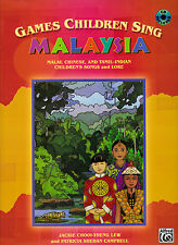 GAMES CHILDREN SING MALAYSIA VOICE PERCUSSION MUSIC BOOK WITH CD
