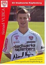FOOTBALL carte joueur NENAD VUJICA équipe SV STADTWERKE KAPFENBERG signée