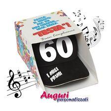 Berretto Musicale 60 anni regalo umoristico per festa compleanno regalo festa co