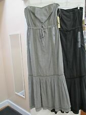 NWT - WOMEN'S DKNY  MAXI DRESS (STRAPLESS)    GREY OR BLACK    XS-MED - $62.00