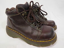 Dr Martens DOC AW004 8542 Lace Up Plain Toe Boots Leather Women's UK 4 US 6