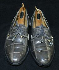 Men's Shoes Genuine Alligator Oxfords Mauri M Collection Size 8.5M Made in Italy