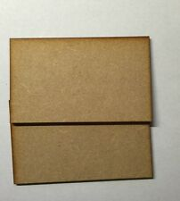 2 x rectangle Bases 3 Mm Laser Cut Mdf 100 Mm x 60 Mm Wargames bolt action