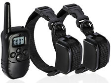 Rechargeable Pet Dog Training Collar LCD Electric Remote Shock 2 Collars US