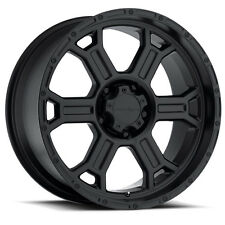 "17"" 17x9 Vision Raptor Matte Black Wheels Rims 6x135 Ford F-150 F150 Truck"