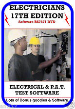 Best Ever Electrical Test Software 17th Edt + BONUS LOT Pat test  Many Manuals