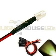 10 x Pre wired 9v 5mm Warm Soft White LEDs Prewired 9 volt DC LED Light 8v 7v