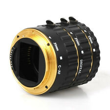 Metal Auto Focus AF Macro Extension Tube/Ring for Kenko CANON EF-S Lens Golden