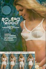 ▬► PUBLICITE ADVERTISING AD SOUS VETEMENT BOLERO 2000