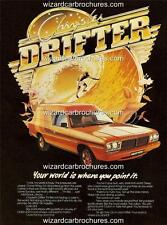 1977 78 CHRYSLER VALIANT DRIFTER VAN A3 POSTER AD SALES BROCHURE ADVERTISEMENT