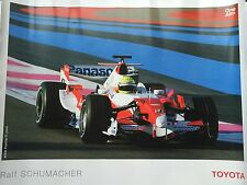 Ralf Schumacher Unsigned Totota F1 Poster Large.
