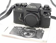 CANON F-1 F1 35MM FILM CAMERA BODY NO. 270851 w/ STRAP, INSTRUCTIONS EX+!