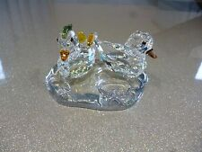 Swarovski crystal Mandarin ducks - mint retired with original box/certificate